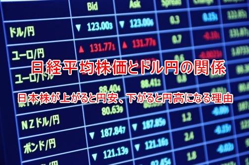 日経平均株価とドル円為替相場の関係!上がると円安、下がると円高になる理由
